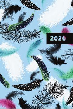 Kalendarz 2020 książkowy dzienny Narcissus Feathers