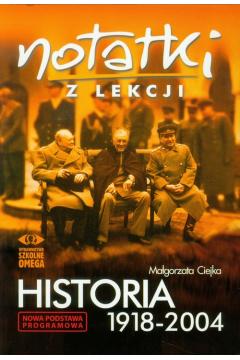 Notatki z Lekcji Historia 1918-2004 OMEGA