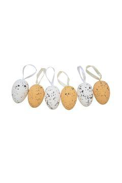 Ozdoba Wielkanocna Jajka nakrapiane z zawieszką