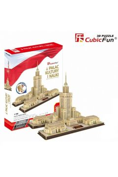 Puzzle 3D. Pałac Kultury i Nauki. Zestaw XL