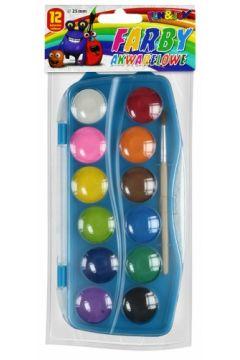 Farby akwarelowe 12 kolorów FUN&JOY