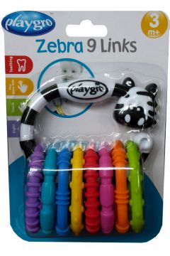 Gryzak aktywny zebra PLAYGRO