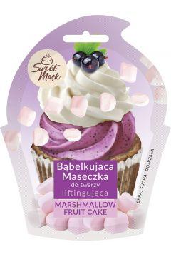 Sweet Mask bąbelkująca maseczka do twarzy liftingująca Marshmallow & Fruit Cake