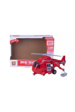 Helikopter światło i dźwięk czerwony w pudełku 3789