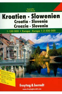 Atlas Chorwacja Słowenia 1:150 000