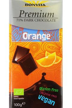 Czekolada premium gorzka z kawałkami pomarańczy bez laktozy bezglutenowa