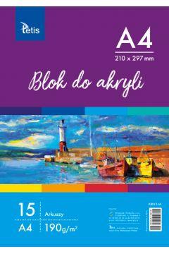 Blok do akryli A4