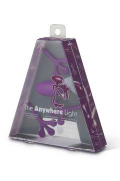 Anywhere Light - lampka do książki - fioletowa