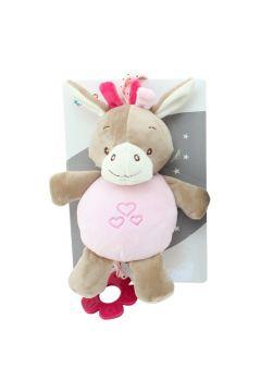 Pozytywka New Baby Osiołek różowy 22 cm