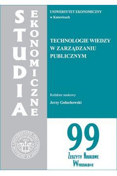 Technologie wiedzy w zarządzaniu publicznym. SE 99