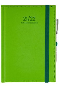 Kalendarz nauczyciela B6 2021/2022 dzienny seledyn