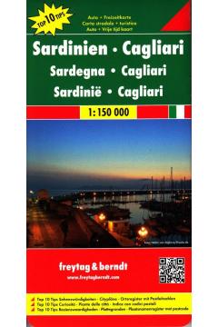 Mapa samochodowa - Sardynia Cagliari 1:150 000