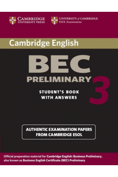 Cambridge BEC Preliminary 3 Student's Book with Answers