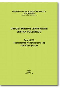 Depozytorium Leksykalne Języka Polskiego. Tom XLIV. Fotoprzegląd frazematyczny (4)