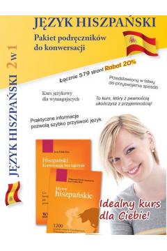 Język hiszpański 2w1 pakiet 8 podręczniki do konwersacji