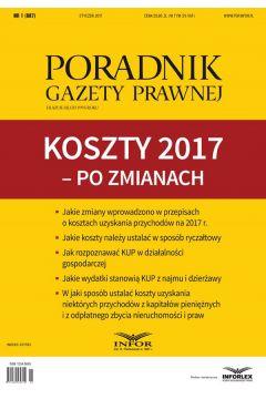 PGP 1/2017 Koszty 2017 - po zmianach