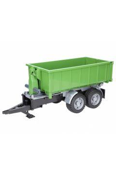 Przyczepa z kontenerem do traktorów - zielona