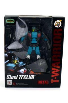 Robot T-Warrior metal błękitny