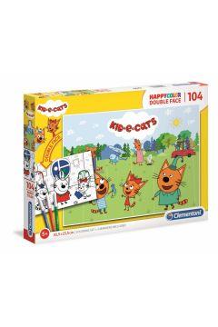 Puzzle 104 el. Happy color. Kotki