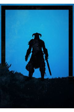 Dawn of Heroes - Dragonborn, Skyrim - plakat