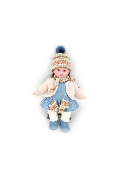 Lalka 40cm dziewczynka zima z dźwiękiem w worku 526273