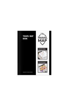 Planer zdrapka podróży Travel Map Book