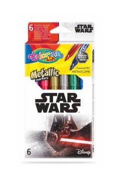 Flamastry metaliczne Colorino Kids 6 kolorów Star Wars