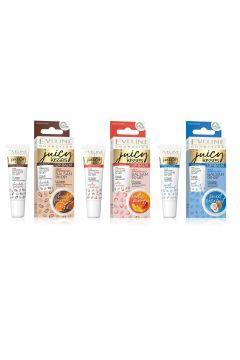 EVELINE_SET Lip Balm Juicy Kisses regenerujący balsam do ust Exotic Mango 6x12ml + Sweet Coconut 6x12ml + Chocolate Pasion 6x12ml
