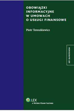 Obowiązki informacyjne w umowach o usługi finansowe