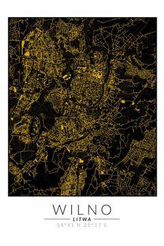 Wilno złota mapa. Plakat