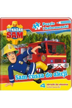 Strażak Sam Puzzle i kolorowanki Sam rusza na akcję