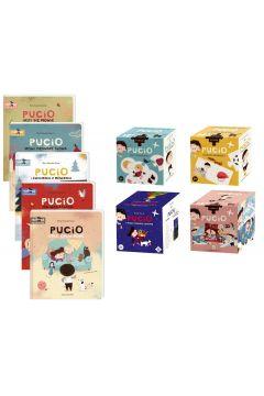 Pakiet Pucio: Pucio uczy się mówić, Pucio mówi pierwsze słowa, Pucio i ćwiczenia z mówienia, Pucio na wakacjach, Pucio umie opowiadać, Puzzle: Co tu pasuje?, Czego brakuje?, Pucio i Misia ubierają choinkę, 3w1