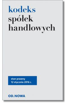Kodeks spółek handlowych 02/2016