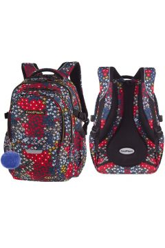 Plecak młodzieżowy CoolPack FACTOR A035 summer meadow z pomponem 85745CP