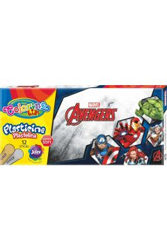 Plastelina Colorino Kids 12 kolorów Avengers