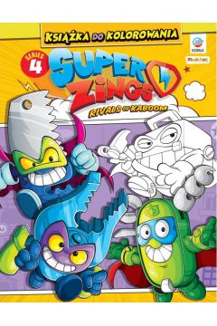Super Zings - Książka do kolorowania + figurka