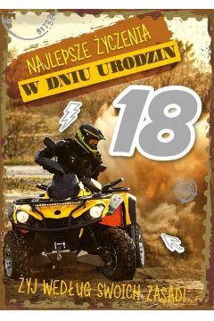 Karnet Urodziny Osiemnastka GM-591