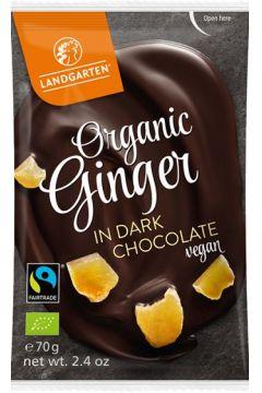Imbir kandyzowany w gorzkiej czekoladzie fair trade bezglutenowy