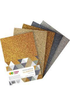 Arkusze piankowe A4 5 kolorów brokat Glamour