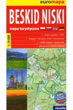 Euromapa Beskid Niski 1:70 000 mapa