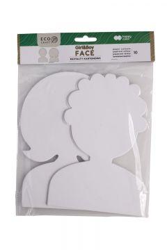 Zestaw kształtów kartonowych Face 10szt