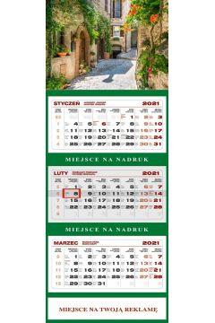 Kalendarz 2021 Ścienny Trójdzielny Toskania