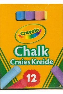 Kreda niepyląca kolorowa 12 kolorów CRAYOLA