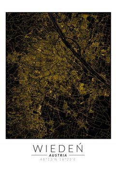 Wiedeń złota mapa. Plakat