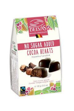 Belgijskie czekoladki serca bez dodatku cukrów bezglutenowe
