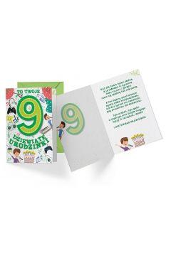 Karnet B6 PR-308 Urodziny 9