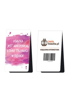 Magnetyczna zakładka do książki - Książka jest marzeniem, które trzymasz w rękach