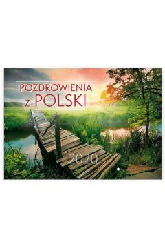 Kalendarz 2020 Ścienny - Pozdrowienia z Polski