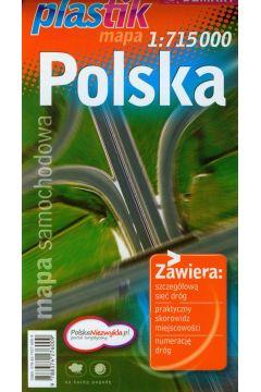 Polska mapa samochodowa 1:715 000