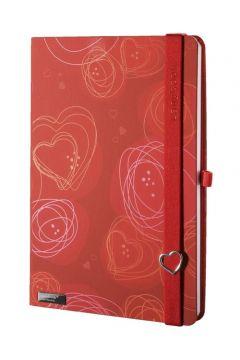 Notes A6 Dreamy Love czerwony kratka